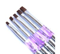 Toptan-1 adet Hideaway Sable Ayrılabilir UV Jel Akrilik Tırnak Boyama Fırça Nail Art Çizim Aracı Oluşturucu Kalem