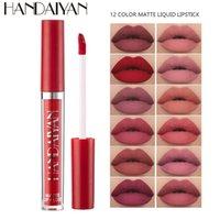 Бесплатная Доставка Хороший Продавец Handaiyan 12 Цветов Матовый Жидкий Глянок для губ Долговечный Lopstick Профессиональный предмет губ