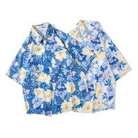 Camicie casual da uomo Abbigliamento da uomo 2021 Trend Retro Trend Camicia floreale a maniche corte Summer Summer Couple Camisas Para Hombre