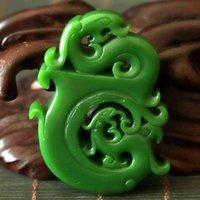 Декоративные объекты фигурки китайский изысканный нефритовый ручной обработчик кулон Greenstone резное дракон и Феникс, выдолбление талисмана подарок