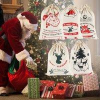 Christmas Decorations Gift Bags Year Santa Sacks Personalized Big Size Canvas Drawstring Xmas Stocking Bag Claus