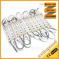 2000pcs / lot LED 모듈 빛 IP65 3LEDS 3528SMD DC 12V LED 조명 모듈 높은 밝은 드라이버 모듈 SMD3528 단일 색상