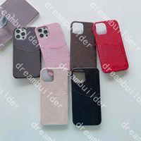 Lüks Tasarımcı Moda Telefon Kılıfları Için iPhone 12 Pro Max 11 11pro 11promax 12Mini X XS XSMAX XR Deri Kart Sahibi Durumda Samsung S10 S20 S20P S20U Not 10 20U Kapak