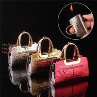 Moda Mini Girl Handbag Personalidad más ligera Conjunto de humos encendedor creativo Fabricante