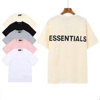 Erkek Tshirt 3 M Yansıtıcı Essentials Mektup Kısa Kollu Yuvarlak Boyun Moda Katı Tshirt 5 Renkler ile Asya Boyutu S-XL