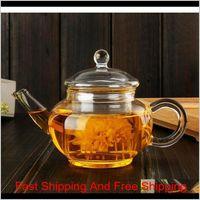 Novo 250ml Alta Qualidade Resistente ao calor Borossilicato Borossilicato Bule Inner Filter Chá Chaleira Kung Fu Chá Coffee Pot Venda Atacado OVO5S Zual0