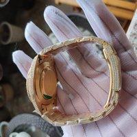 41mm de primeira qualidade mais nova v3 homens assistir pulseira 126334 126234 116244 Árabe diamantes Discar ETA A2824 Mens automático Pulso de pulso 904L Diamante de aço gelado fora completo