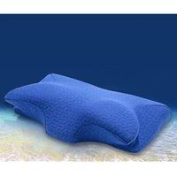 60 * 32см ортопедический латекс физиотерапия подушка для физиотерапии медленный отскок Память вспененные шеи сон подушка шейки матки здоровья отбивает подушку SH190925