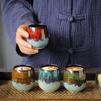 Fırın değişimi renkli kahve kupa 80 ml yaratıcı çay bardağı seramik espresso çay fincanı viski ev cafe bar drinkware hediyeler