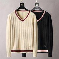 21s Sweater do desenhador dos homens de luxo dos homens e das mulheres do gradiente Jacquard dos homens de Jacquard dos homens Moda de Paris de Moda T-shirt de T-shirt de Rua Camiseta Camiseta