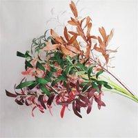 الزهور اكاليل الزهور واحدة حرير شجرة الزيتون فرع الاصطناعي الخضراء ورقة النبات الصفصاف ينبع ل حفل زفاف الديكور الزهور