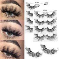 False Eyelashes 4 Pairs 5D Faux Mink Long Lasting Lashes Natural Thick Handmade Soft Eye Lash Makeup Extension Tools