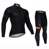 Мужская езда на велосипеде Джерси костюм STRAVA TEAM TOMEND рукав MTB велосипедная рубашка и брюки наборы дышащих дорожных велосипедов гоночная одежда ROPA Ciclismo Y21071617