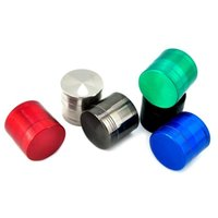 Wholesale outils de meulage concave accessoires de fumeur grinder couvre moulin en métal outil abrasif fumerAccessoires 40 * 35mm wq191-wll