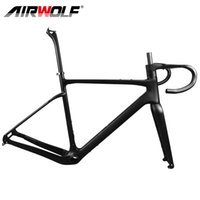 Airwolf Carbon Fiber Gravel Bike Frame 700*42C Cyclocross Bikes Frames Fork Seatpost Bicycle Frameset BB386 49 52 54 56 58cm fit Di2&Mechanical Groupset