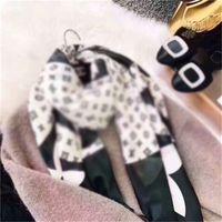 Дизайнерский шарф мода женский декоративный шелковый бренд напечатанный шарф моды длинный шарф 190 * 90см