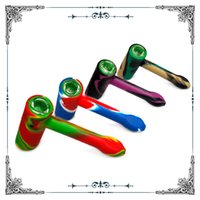 silicone water pipes smoking hammer glass smoking pipe dab rig glass bong with glass screen bowl hookah oil rig bong factory wholesale cheap