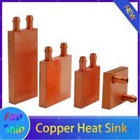 Fans & Coolings Copper Radiator For PC CPU GPU Northbridge Cooling, Intel AMD MCU Cooler Heatsink 40*40 40*80 50*50mm