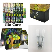 GLO VapeS Cartridge 510 Thread Vape Pen Ceramic Coil Atomizer Disposable E Cigarette Reflective Packaging 0.8ml 1.0ml Glass Vaporizer Thick Oil Cart manufacture