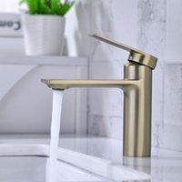 Bagno vanità vano rubinetto lavabo miscelatore rubinetto rubinetto bagno anti-ruggine e anti-indossare singolo foro singolo lavello rubinetto acqua opaco nero moderno monoblocco in ottone cromato