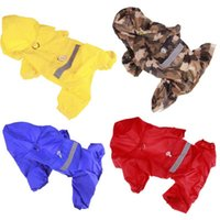 Dog Apparel Pet Cat Raincoat Hooded Reflective Puppy Small Rain Coat Waterproof Jacket For Dogs Soft Breathable Mesh Clothes