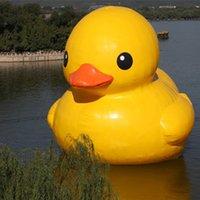 Härlig söt lufttät gul uppblåsbara buoy anka jätte pvc gummi ankor för reklam som visar