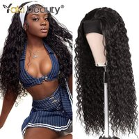 28Inch Long Afro Kinky Curly Headband Wigs Synthetic Ice Headband Wig For Black Women Long Water Wave Wig Anjo Plus Wigfactory direct