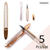 False Eyelashes 5Pcs Lot 2 In 1 Eye Pencil Waterproof Long Lasting Wholesale Eyelash Glue Eyeliner Pen Liquid Liner Lash Adhesive