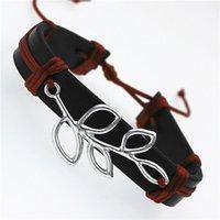 Link, Kette GO MAX DGW Blätter Leder Armbänder für Herren und Frauen Pulseira Masculina Schmuck Charm Biblik Pulseiras Armreifen