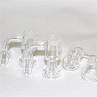 Rauchen Zubehör Beracky handgefertigte Quarz-Vakuum Banger domeless Terpen-Slurper-Öl-Nagel mit 25mm Eimer 30mm Bottom für Glas Bong-Rigs