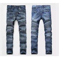 Mens jeans Men Designer jeans Distressed Motorcycle biker Rock Revival jeans size 28-40 Tight Skinny Ripped Straight Hip Hop Men's pants