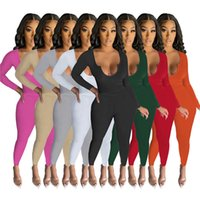 Women Tracksuits Long Sleeve T-shirt Leggings Casual Spring Fall Clothing Solid Color Outfits Two Piece Set Jogging Suits Slim Sweatsuits Gym Sportswear 5619