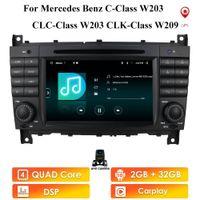 Carplay Android10 자동차 멀티미디어 플레이어 Mercedes Benz C 클래스 W203 / CLC W203 라디오 네비게이션 스테레오 BT DVD DSP 용 Autoradio GPS