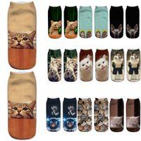 Unisex Casual Warm Socks Winter 3D Cute Cat Printing Medium Sports Socks Work Business Socks Skarpetki Damskie