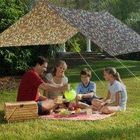 3m x 3m tenda da parasole tenda da parasole da esterno Cammuffamento multifunzionale a baldacchino impermeabile Sunscreen Beach Beach senza ribalta Tenda all'ombrello