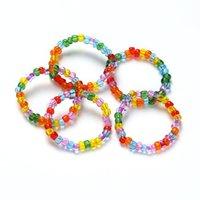 الإبداعية الحلوى الملونة الخرزة حلقة مطرز الملونة حبة الزجاج حبة الدائري