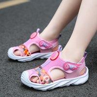 Fairy Shoes 2021 New Summer Children's Sandals Girls' Zhongda Korean Princess Baotou Beach