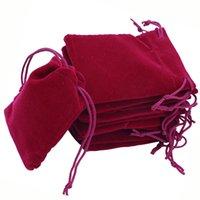 Tassen 6x7cm Zachte Fluwelen Trekkoord Gift Bag Sieraden Verpakking Display Samll Pouch voor Kerstmis / Bruiloft 500 stks / partij