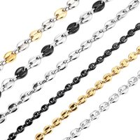 YUTONG Coffee Bean Necklace for Men Women Stainless Steel Pig Snout Chains Necklaces Fashion Jewelry 8MM 11MM 13MM
