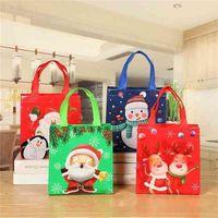 Рождественская подарочная упаковка сумка нетканая сумка Santas сумка большая конфета Claus сумки Xmas подарок Santa Sacks для фестиваля украшения HWB9532