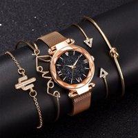 Designer luxury brand watches Set Women es Magnetic Starry Sky Female Clock Quartz Wrist Fashion Ladies Wrist relogio feminino