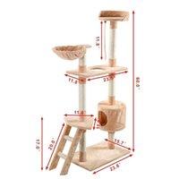 """جديد 60 """"Cat Tree Tower Conto Sertust Furniture Kitten Pet Hou Jllfox Insyard"""