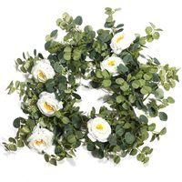 Decorative Flowers & Wreaths 1PC Artificial Plants Fake Eucalyptus Vine Garland Hanging For Wedding Home Office Party Garden Craft Art Decor