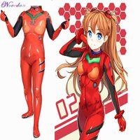 Eva Anime Cosplay Asuka Langley Soryu Ayanami Rei Shinji Ikari Mari Makinami Cosplay Kostuum Dames Anime Bodysuit Zentai Suit Y0903