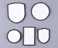 Accessoires de tissu Patchs de chapeau de sublimation Chapeaux Thermal Traque Chapeaux Patch Blanc Blanc Toile Accessoire Square Round Diy Cadeau Decor DWF8911
