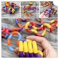 تخفيف الضغط لعبة تململ الكماء الكبار مكافحة الإجهاد اليد الحسية الملتوية متعرج اللعب إصبع للأطفال التوحد المهجع التدريب تشابك