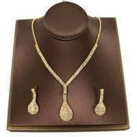 Earrings & Necklace Exquisite Fashion Simple Cubic Zirconia Shiny Crystal Women Set For Brides Wedding Costume Jewelry