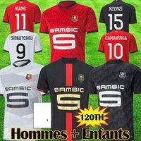 Stade Rennais 120th Anniversary Mailleots De Foot 2020 21 Camavinga Rennes FC Bourigeaud Raphinha Soccer Jersey Niang Hunou Grenier Men Kids