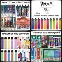 100 % 정통 RANDM 최대 일회용 전자 담배 장치 키트 8ml 2500 퍼프 1000mAh 배터리 vape vs 퍼프 바 Bang 스위치 듀오