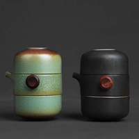 Bebida Japão Cerâmica Bule Gaiwan Tea Cupes Handmade Portátil Viagens Office Chá Set